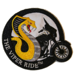 VIPER RIDE PATCH (SMALL Approx. 4 in. x 4 in. )