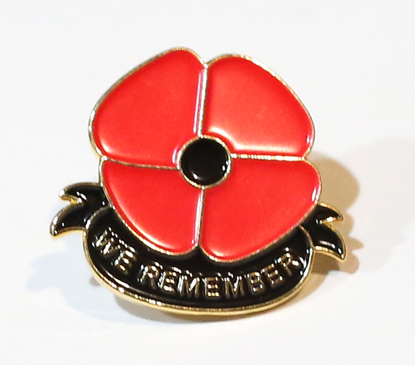 WE REMEMBER Poppy Pins